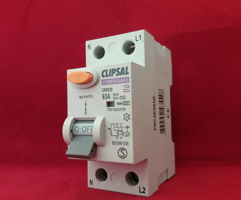 Clipsal Powerguard Wickes Cr6330 63a 63amp 30ma Double Pole Dp 2p Wiring Devices Philippines Rcd Switch New Ebay