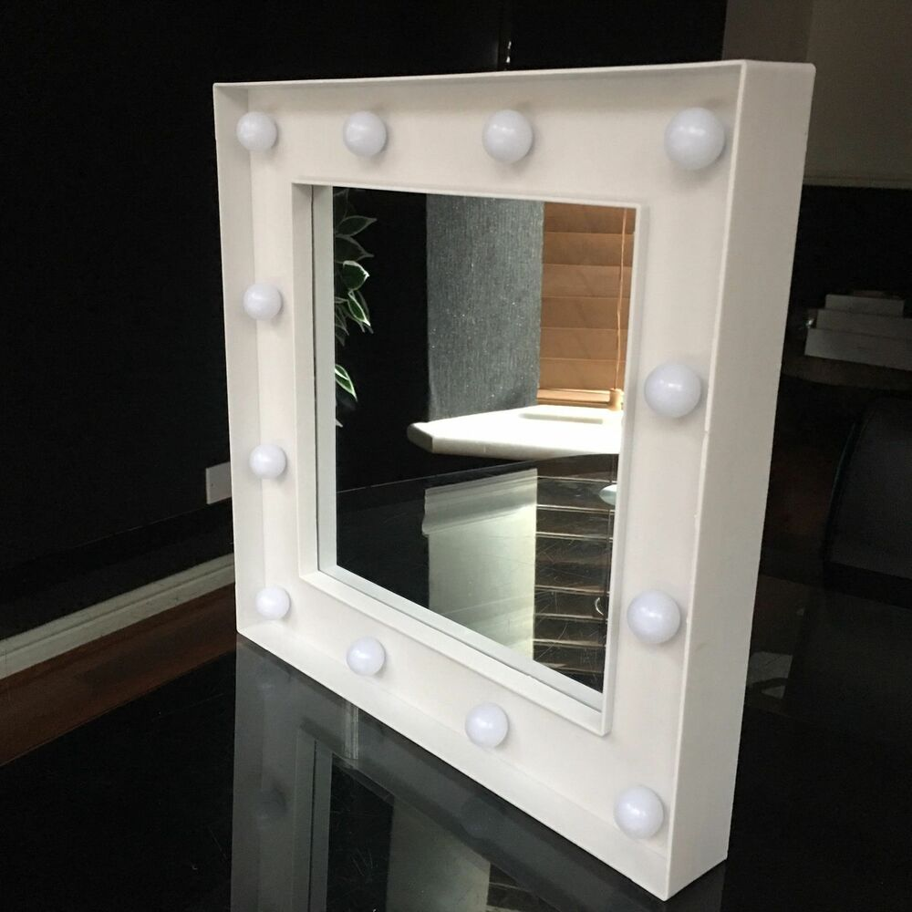 Wall mounted make up mirrors ebay hollywood led dressing table wall mirror small 30x30 cm led light wall mirror aloadofball Choice Image