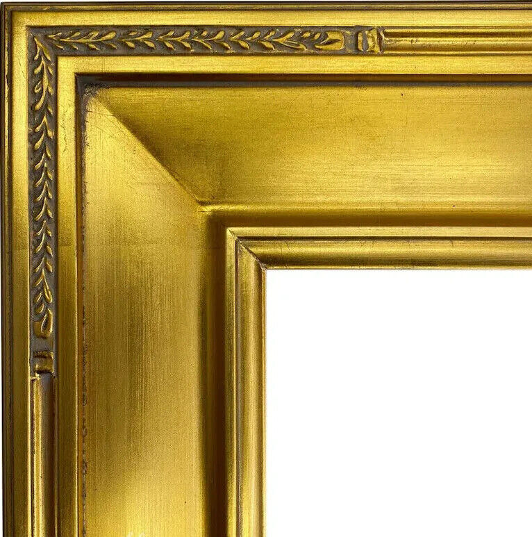 4 wide gold leaf ornate photo family oil painting wood picture 4 wide gold leaf ornate photo family oil painting wood picture frame m4g ebay jeuxipadfo Gallery