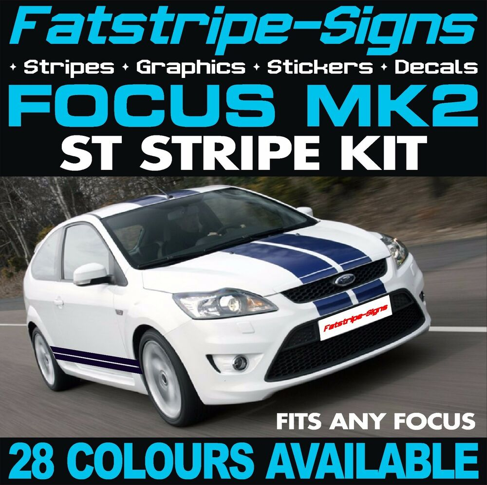 FORD FOCUS MK ST STRIPES GRAPHICS DECALS STICKERS CAR VINYL RS - Car decals designnew design full car body stickers for ford focus golf mg