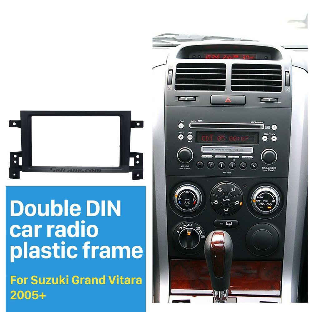 For suzuki grand vitara 2005 car stereo radio fascia panel plate frame kit 2din ebay