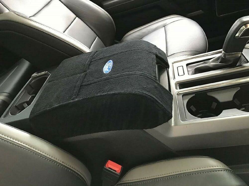 F250 Seat Covers >> Fits 2011 - 2018 Ford F150 F250 F350 Black Center Console Cover King Ranch | eBay
