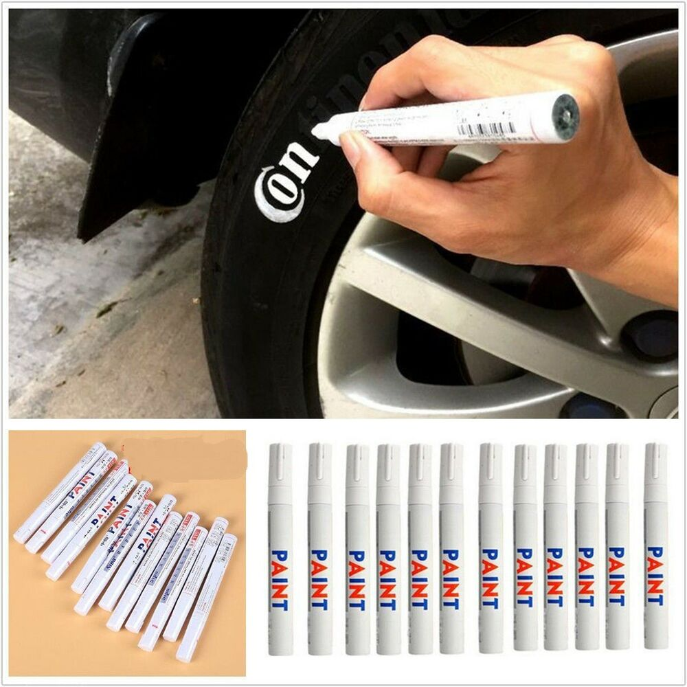 pcs waterproof car tyre tire tread rubber paint  markers  permanent white ebay