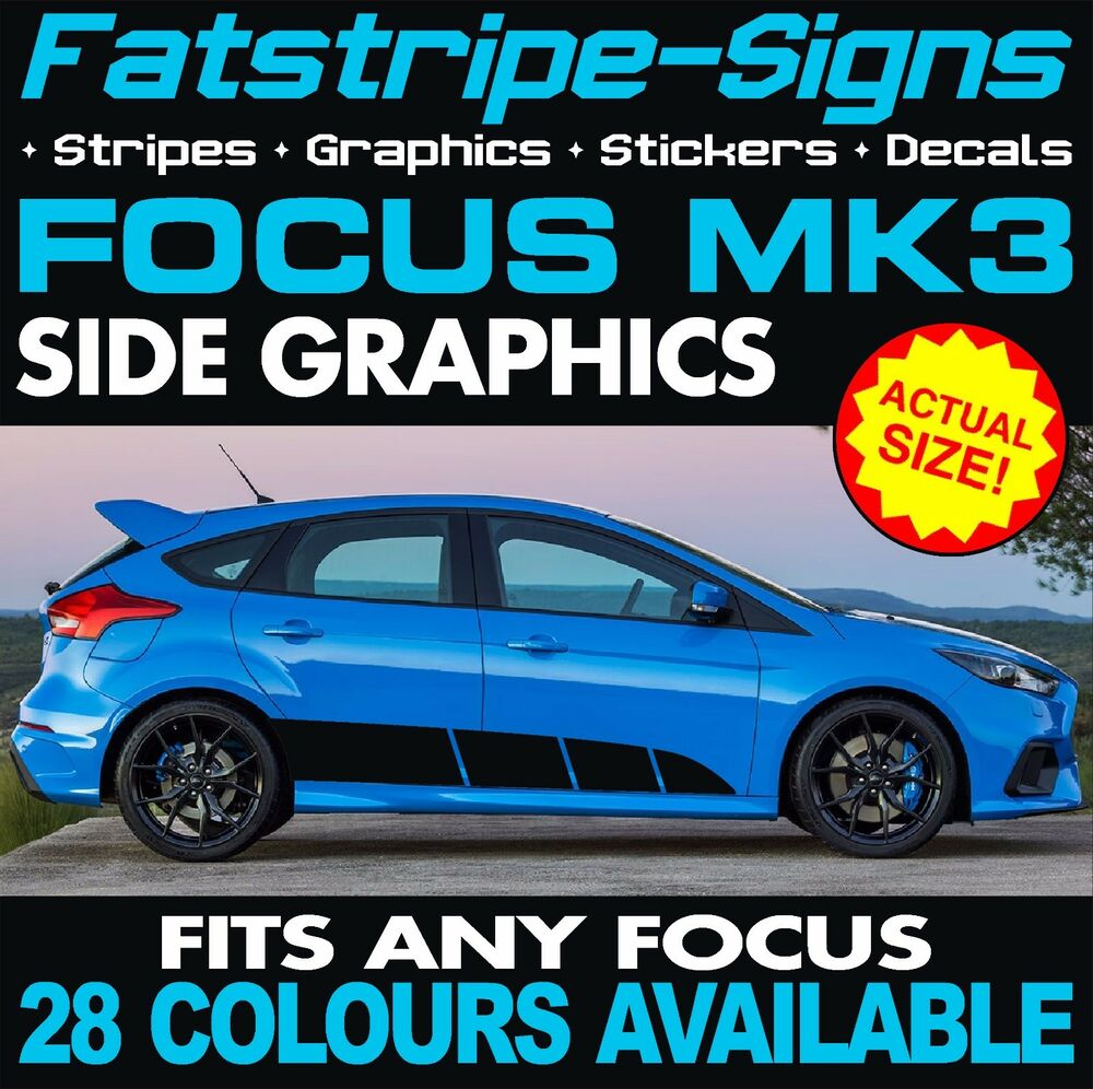 Ford Focus St Mk3 Graphics Decals Stripes Stickers Rs 1 8 2 0 2 5 Turbo Alloys Ebay
