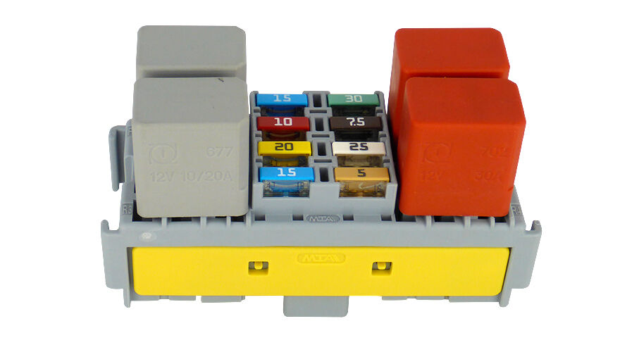 Mta fuse and relay holder for micro mini