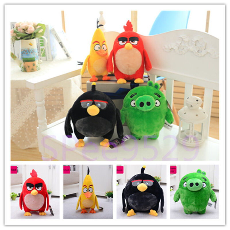 Angry birds movie plush doll red bomb chuck pig soft toy kids gift collection a ebay - Angry birds toys ebay ...