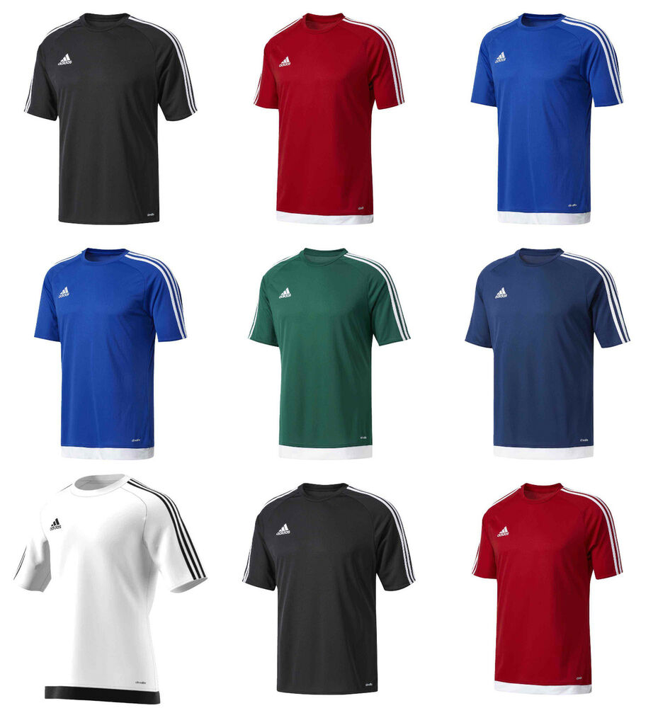 80d7a7af41b3 Details about Adidas Boys Estro T Shirts Kids Football Sports Training PE  Top Jersey Junior