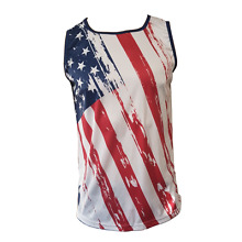 American Flag Rugby Singlet - Red White Blue Rugby