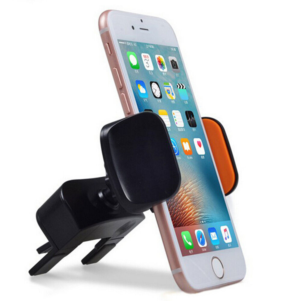 cd slot push lock grip car mount phone holder for iphone 7 plus 6s