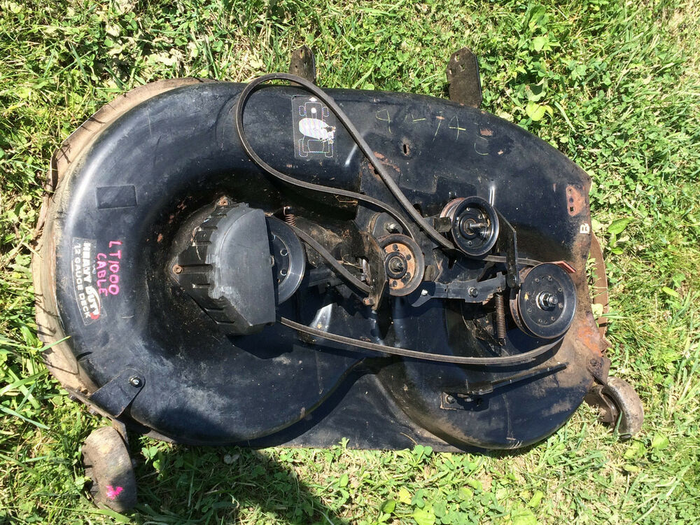 Craftsman 42 Mower Deck Cable : Craftsman lt quot mower deck assembly cable operated
