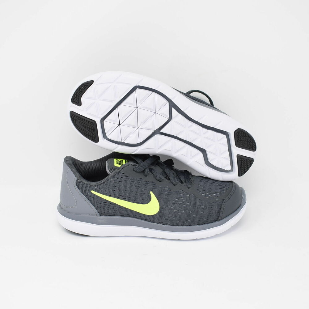 8524104c1f36 Details about Nike Flex 2017 RN 904237-002 Kids PS Running Shoes Grey    Black