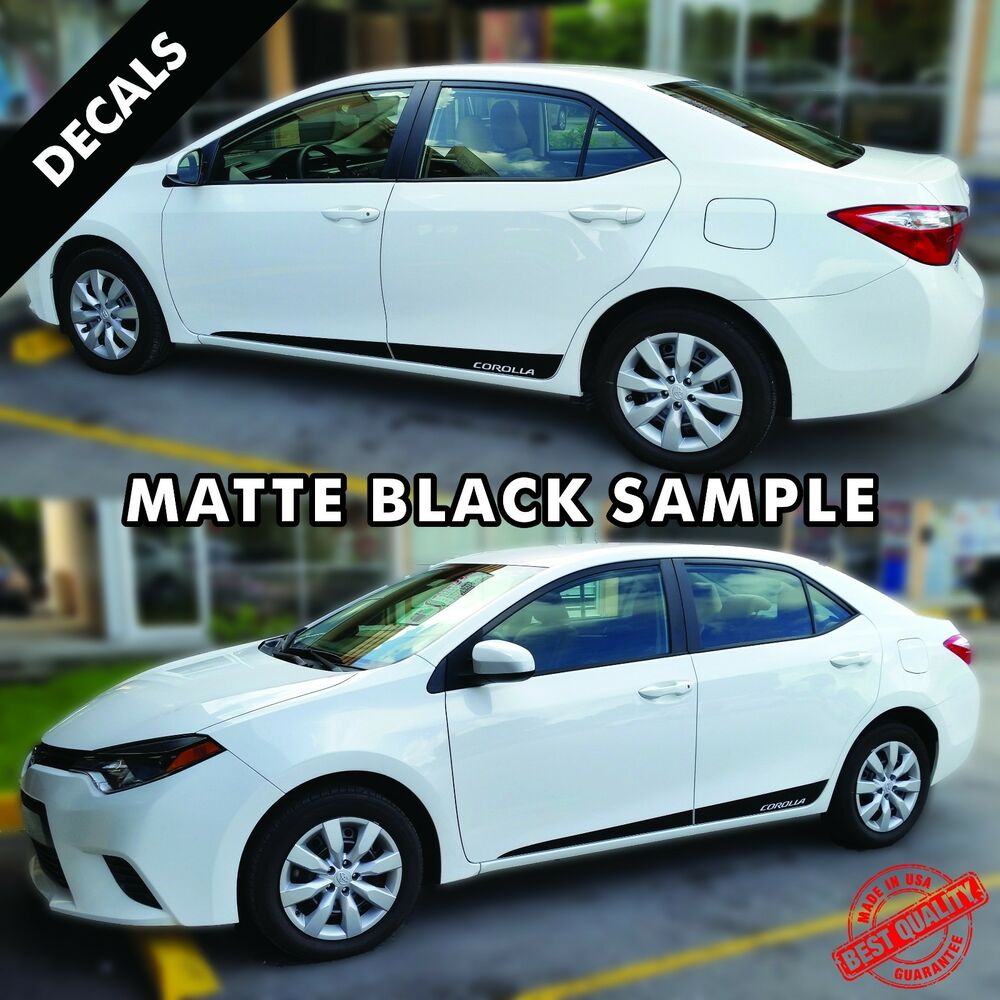 Details about toyota corolla pre cut side stripes rocker panel decals vinyl 2015 to 2017 44