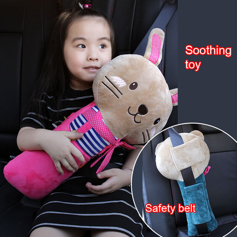 Auto Car Safety Seat Belt Cover Toy Kids Child Head Protect Shoulder