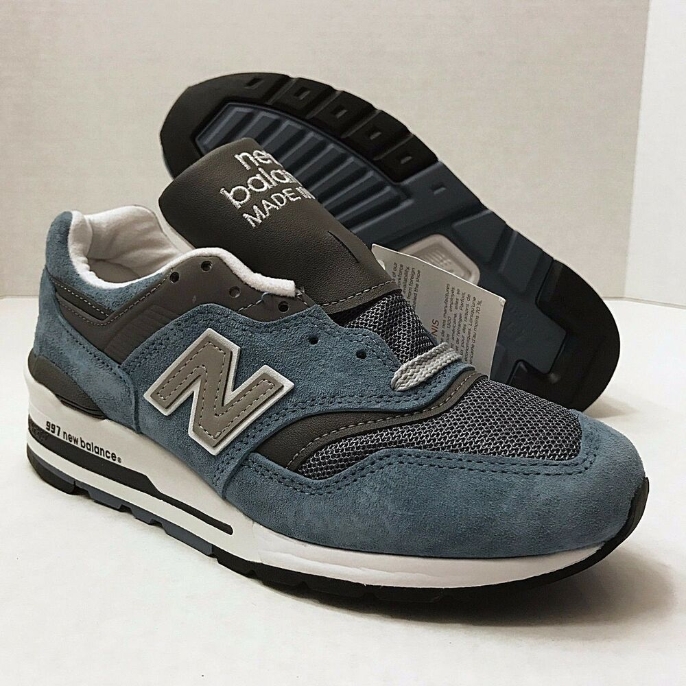 release date: 7613e 244c7 Details about NEW BALANCE 997 Age of Exploration Shoes Made in USA BLUE  MENS 5 or WOMENS 6.5