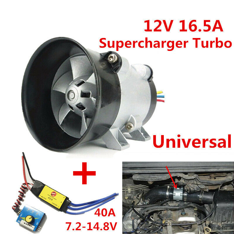 Electric Turbochargers: Car Electric Supercharger Turbo Intake Fan Boost 12V W