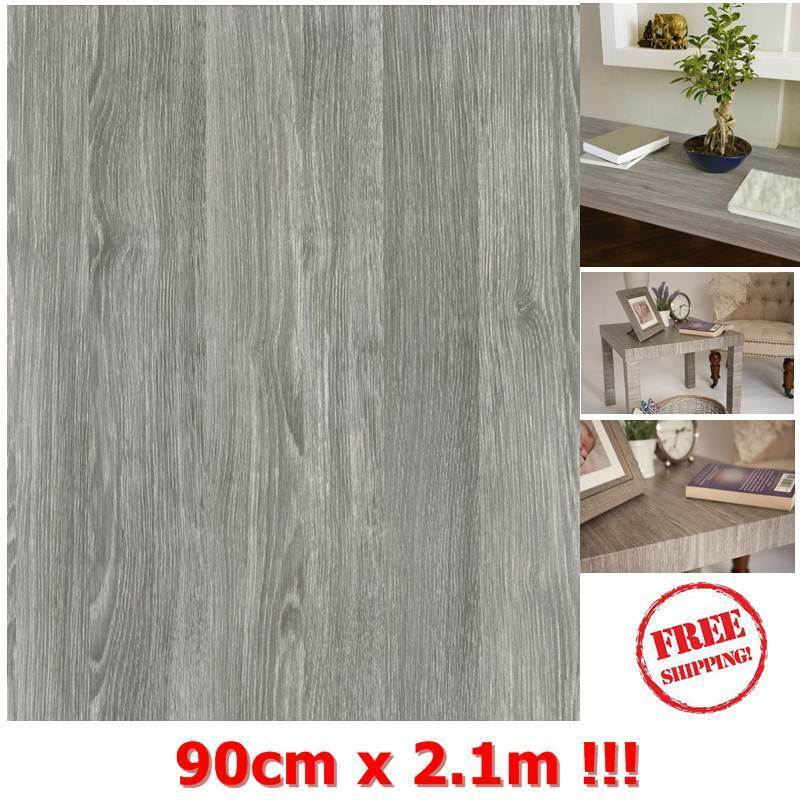 NEW DIY Kitchen Worktop Grey Wood Vinyl Cover Self