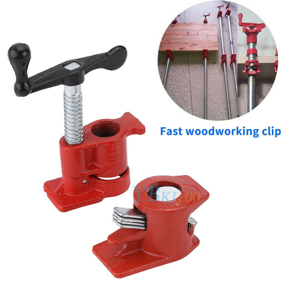 Heavy Duty Wood Glue : Heavy duty quot h style gluing clamp pipe bar