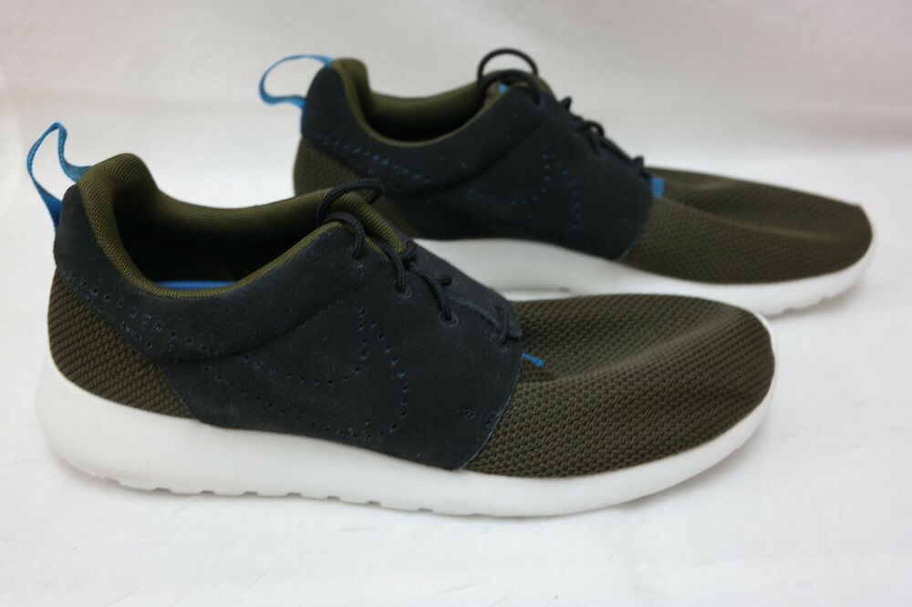 size 40 971ea 1119c Mens Nike Roshe One Athletic Casual Shoes 511881-303 Dark Loden Black E11