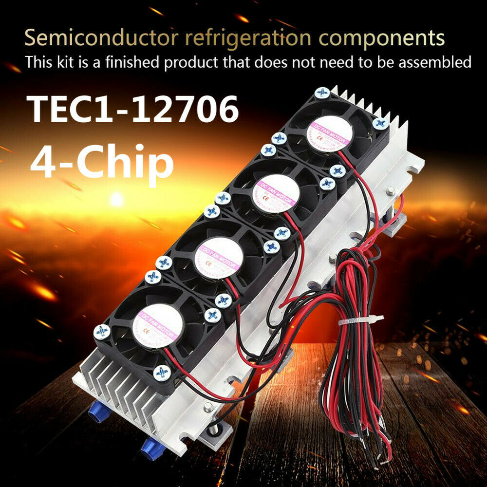 12v 4 Chip Tec1 12706 Diy Thermoelectric Cooler