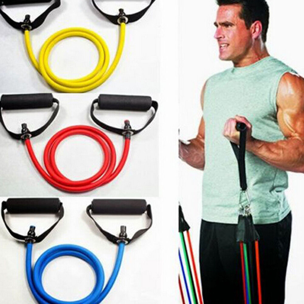 Resistance Bands Uk: Exercise Latex Resistance Bands Pilates Tube Workout Gym