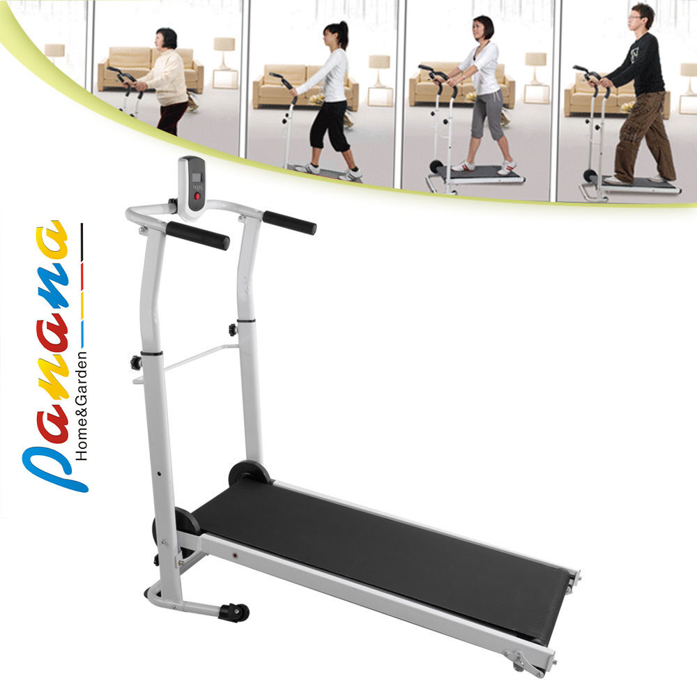 Folding Manual Treadmill Running Machine Cardio Fitness