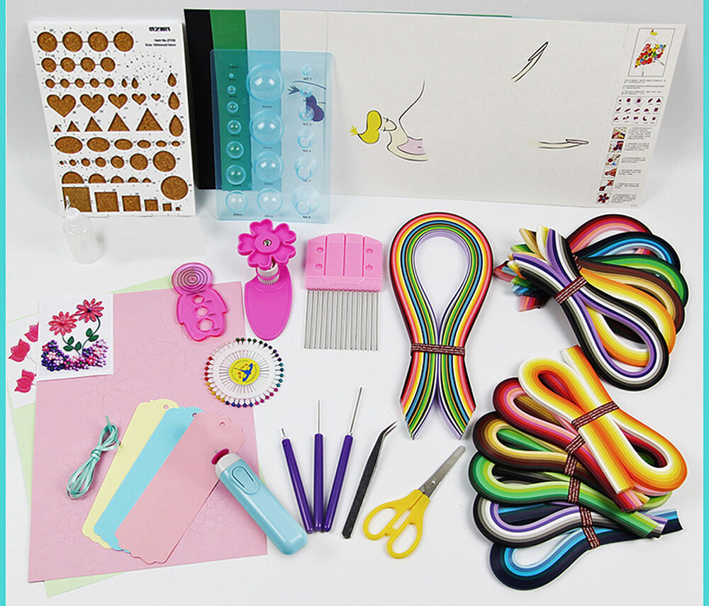 Paper Quillling Professional Craft Kits With 1560 Strips And 11