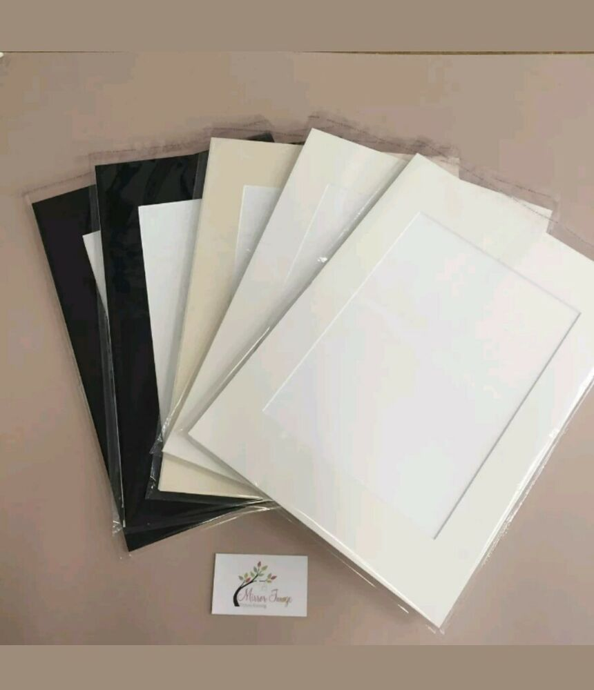 8x Professional Picture Framing Mat Boards 12x16\