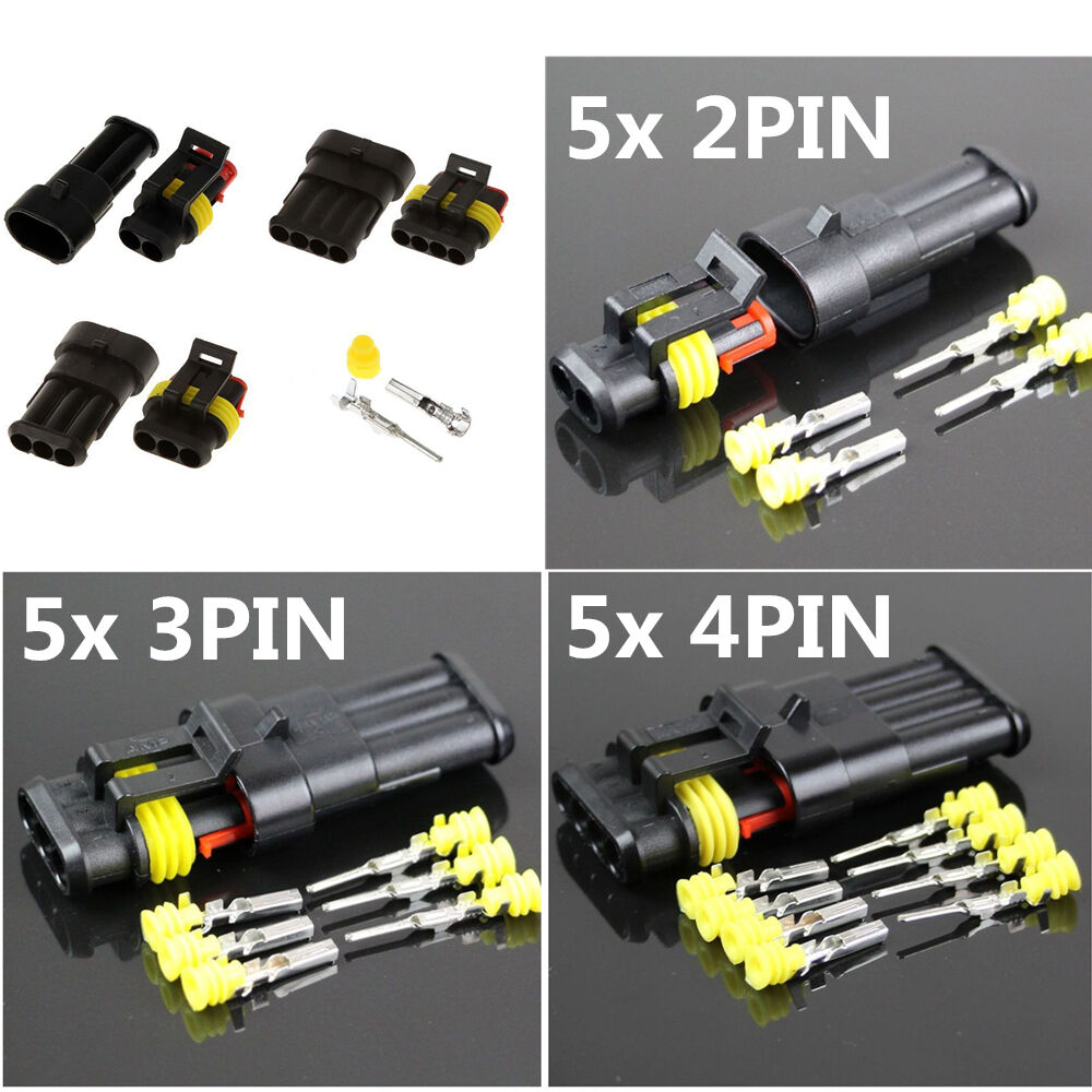 15 Sets Assorted Car Electrical Wire Connector Plug 2