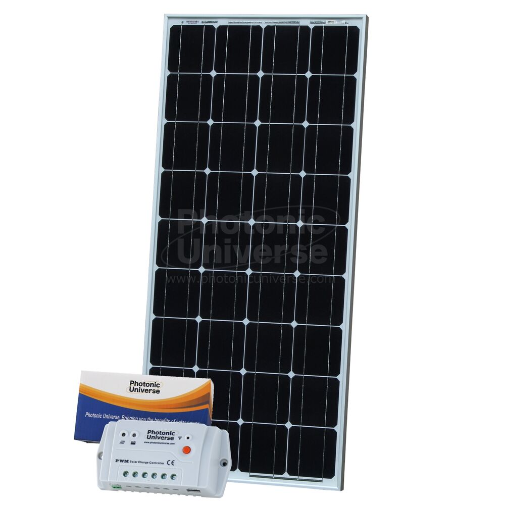 100w 12v Solar Charging Kit With 10a Controller 5m Cable