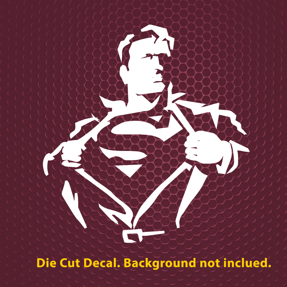 Superman decal ebay 4 up to 23 superman silhouette premium decal sticker car wall laptop amipublicfo Choice Image