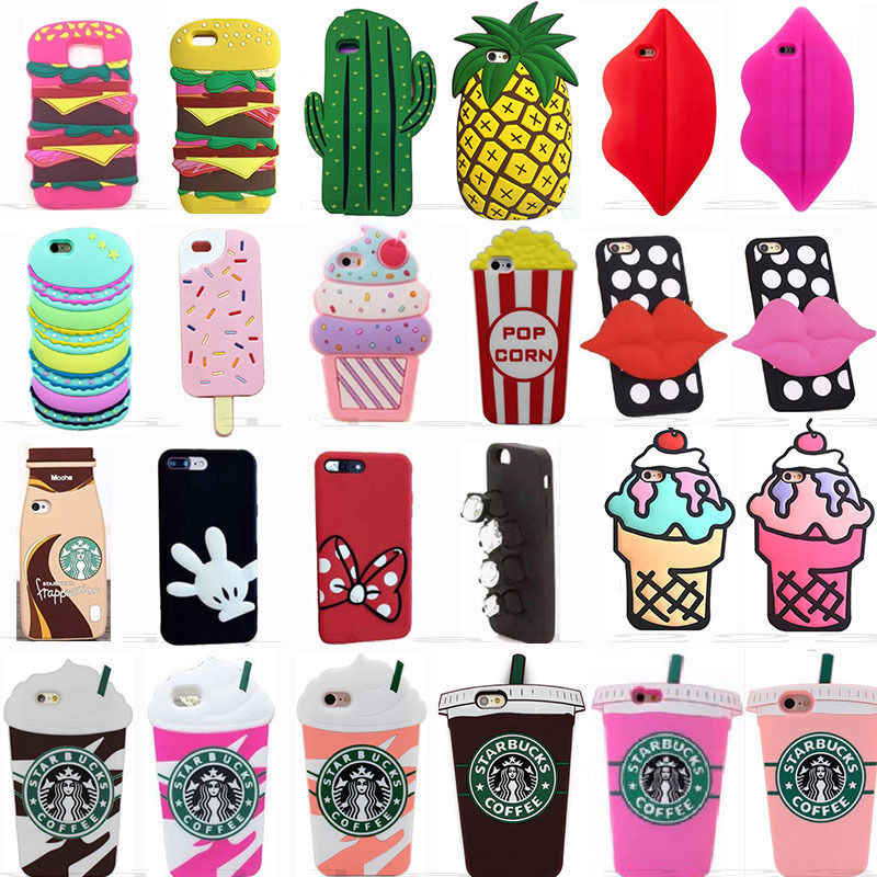 info for 56474 9f60a 3D Food Cute Cartoon Soft Silicone Phone Case Cover For Samsung Galaxy  Phones | eBay