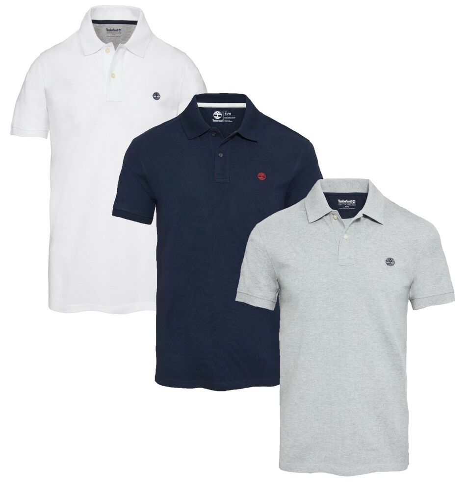 Timberland Millers Rivers Mens Cotton Polo Shirt Casual Pique T