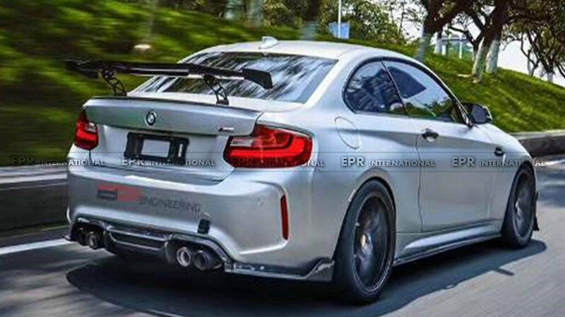 rear trunk gt spoiler wing lip part bodykit for bmw f87 m2. Black Bedroom Furniture Sets. Home Design Ideas