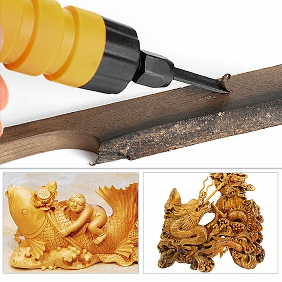 Electric chisel carving tool wood machine