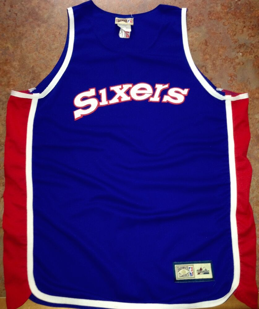 0462afbc2 Nba hardwood classics philadelphia 76ers throwback basketball jersey size  xl