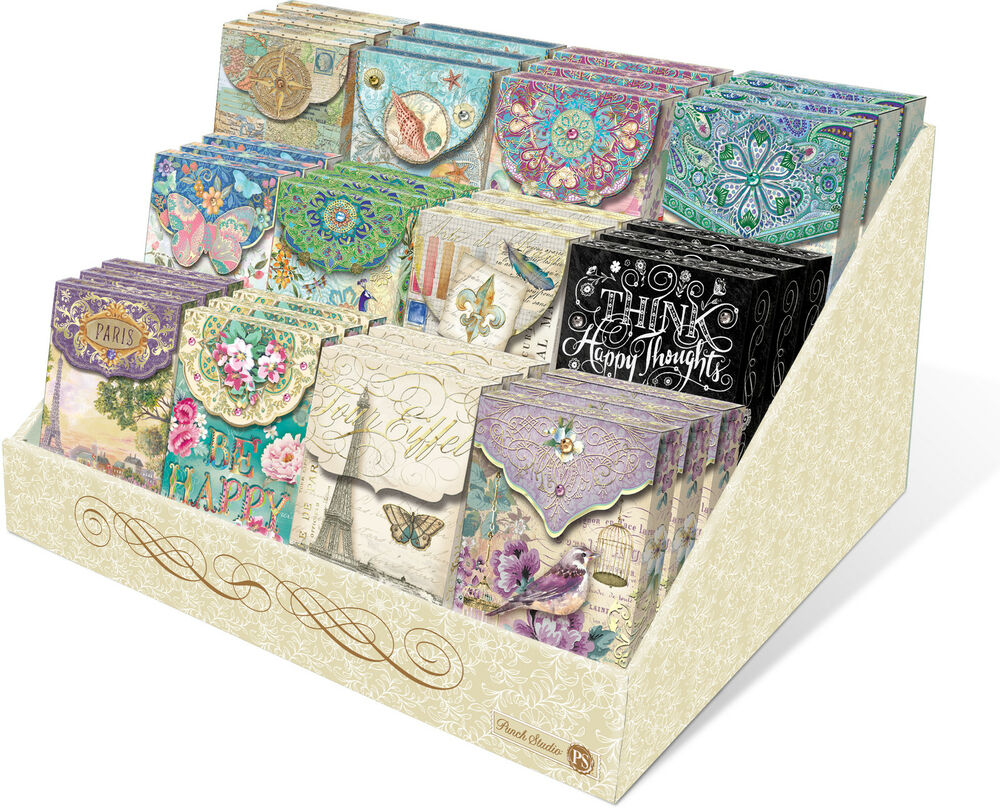 Punch Studio E7 Collection Decorative Pouch Note Cards