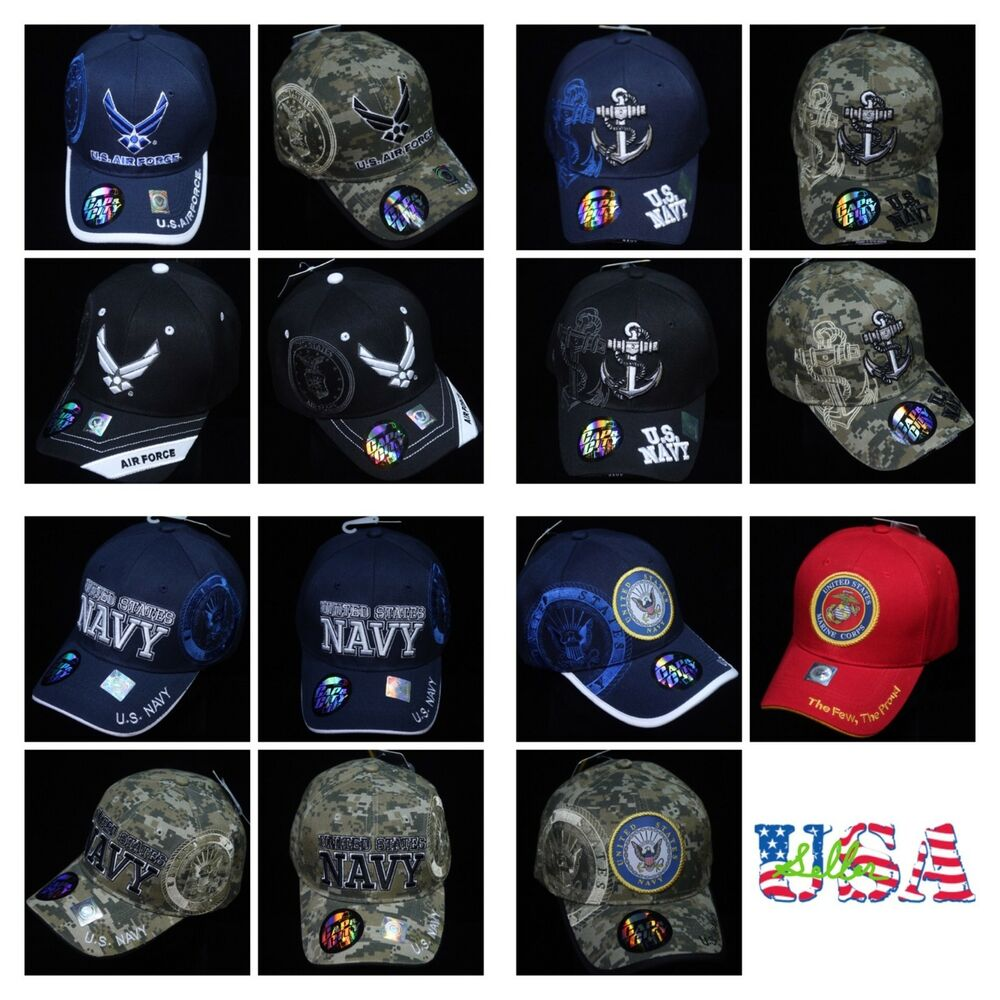 Details about U.S. Navy Baseball Cap Air Force Marine Military Army Logo  Hats License Camo Hat 0359104f398