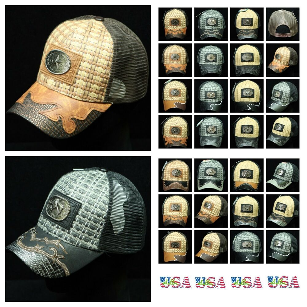 Details about Western Cowboy Style Baseball Cap Classic Hat Mesh Trucker Snapback  Rooster Hat ea6e25d83fc