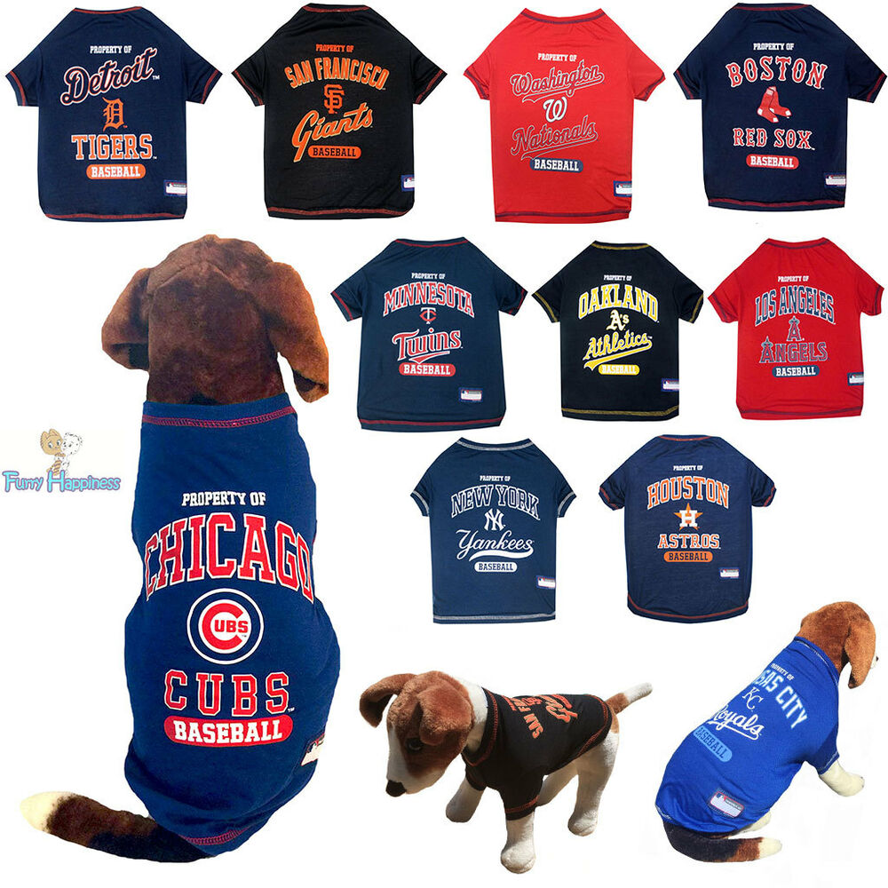 61b6e835e Details about MLB Fan Pet Gear Dog Shirt Dog Tee for Dogs Puppy -PICK YOUR  TEAM BIG SIZE XS-XL