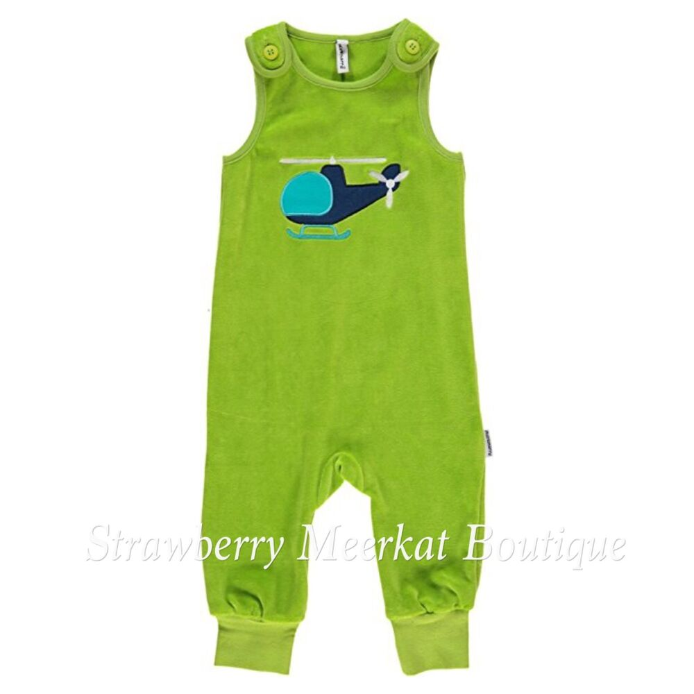 82829cc8f New Maxomorra Bright Green Chopper Velour Playsuit Dungarees 68 74 ...