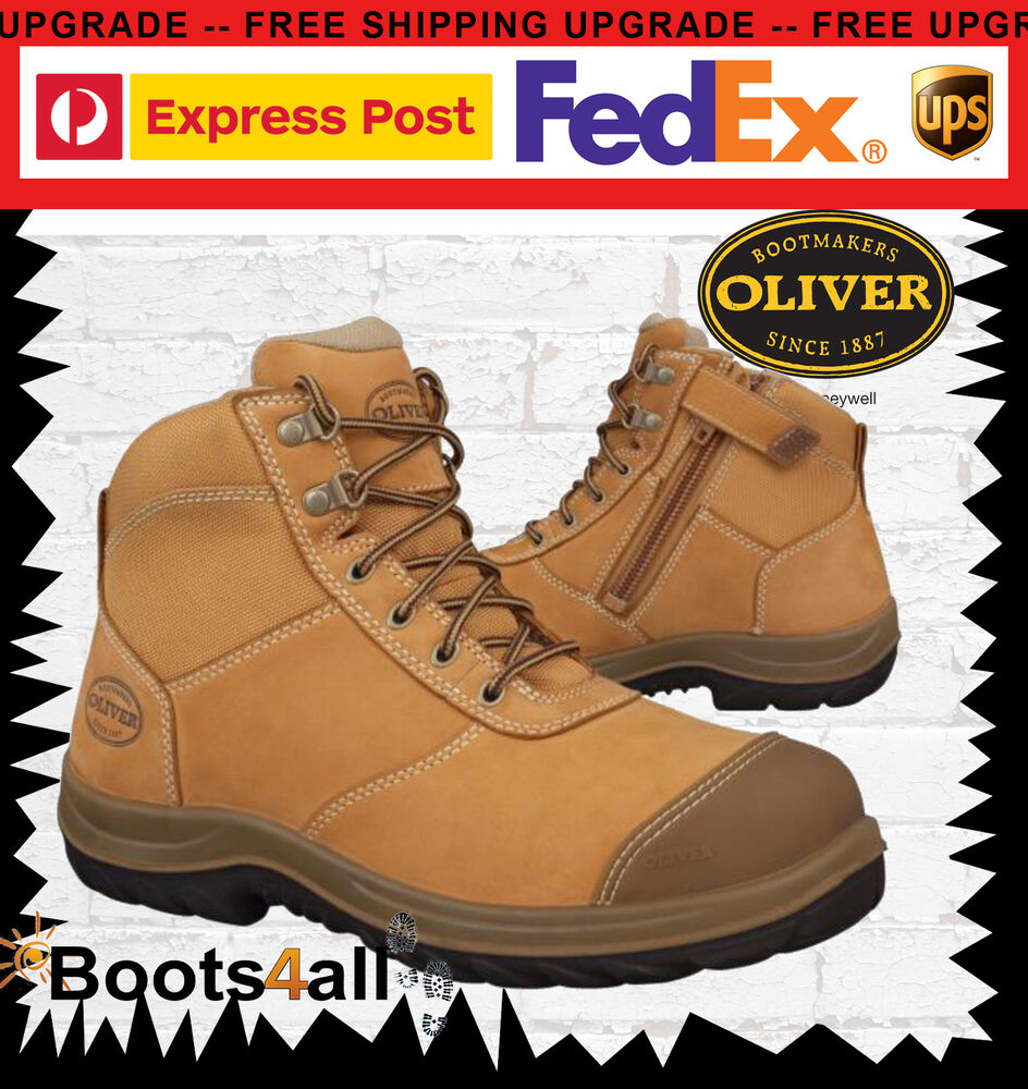 Oliver Men's Work Safety Ankle Boots Shoes Steel Toe ZIP ...