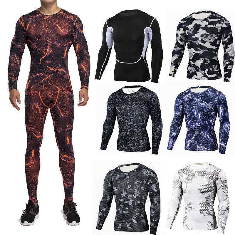 2fa89a28ca88a Details about Mens Compression Wear Sports Skin Tights Base Under Layer T  Shirts Pants Dri fit