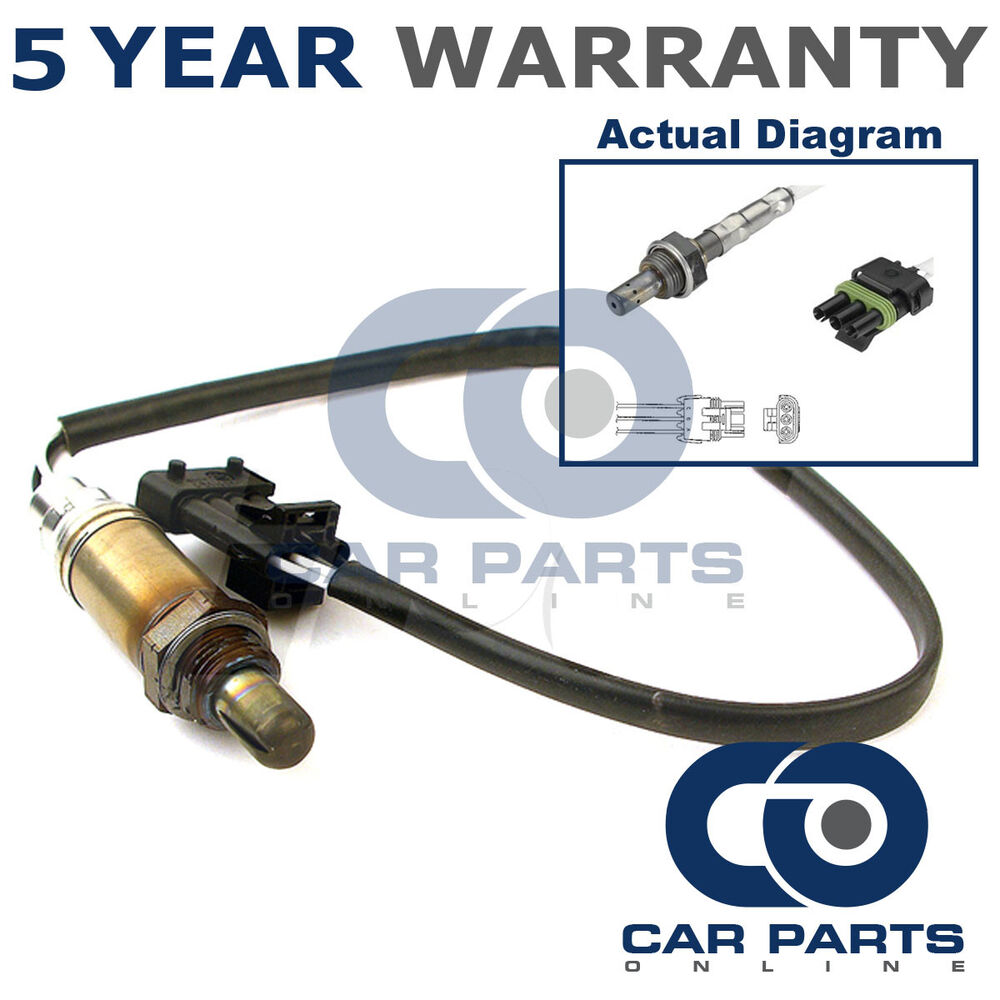 Front 3 Wire Oxygen Sensor For Vauxhall Opel Frontera Omega Sintra Bosch O2 Wiring Diagram Connector 25 30 22 Ebay