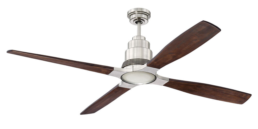 f11fcdcdba0 Salido 60 In Led Indoor Brushed Nickel Ceiling Fan With Light And ...