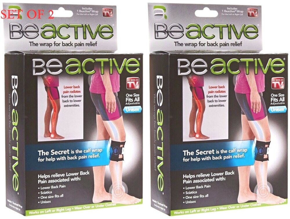 e6ffcef340 Details about 2 PACK BeActive Brace Be Active As Seen on TV Acupressure Leg  Sciatica Back Pain