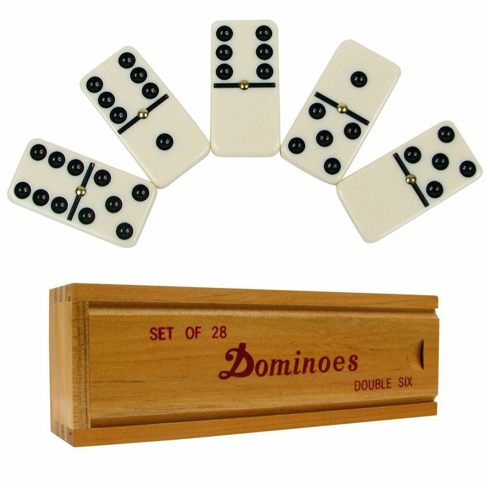 DOUBLE SIX PROFESSIONAL DOMINO TILES Dominoes Game Set