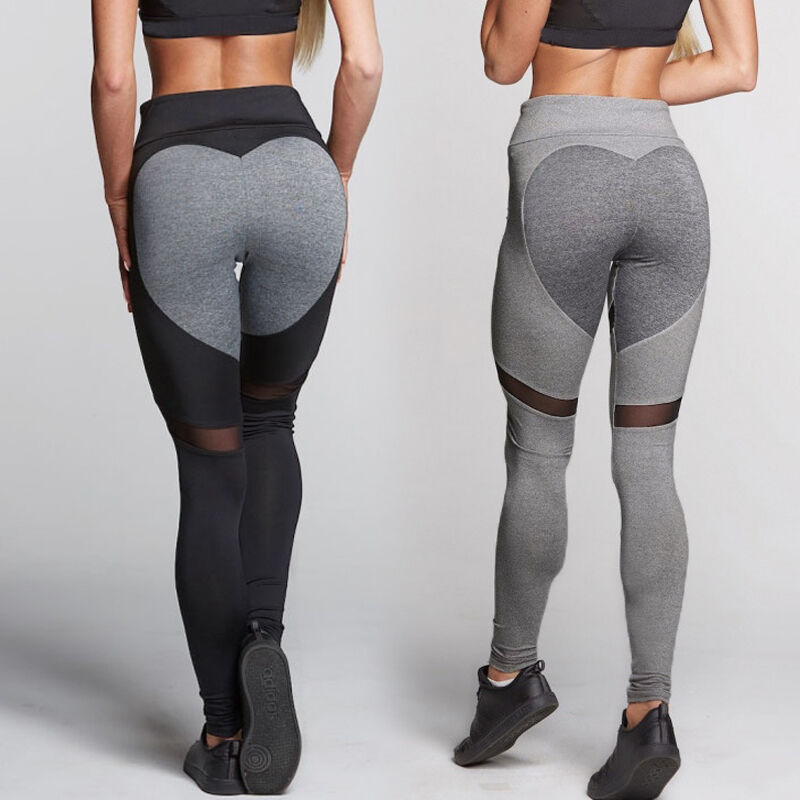 US Stock Womens Sports YOGA Workout Gym Fitness Leggings