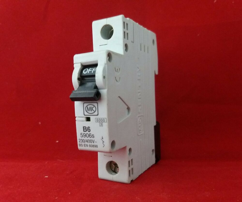 Mk 5906s 6a 6amp B Type B6 Single Pole Sp 1p Mcb Fuse Switch New Wiring Devices Saudi Arabia Style 1 5017490195678 Ebay