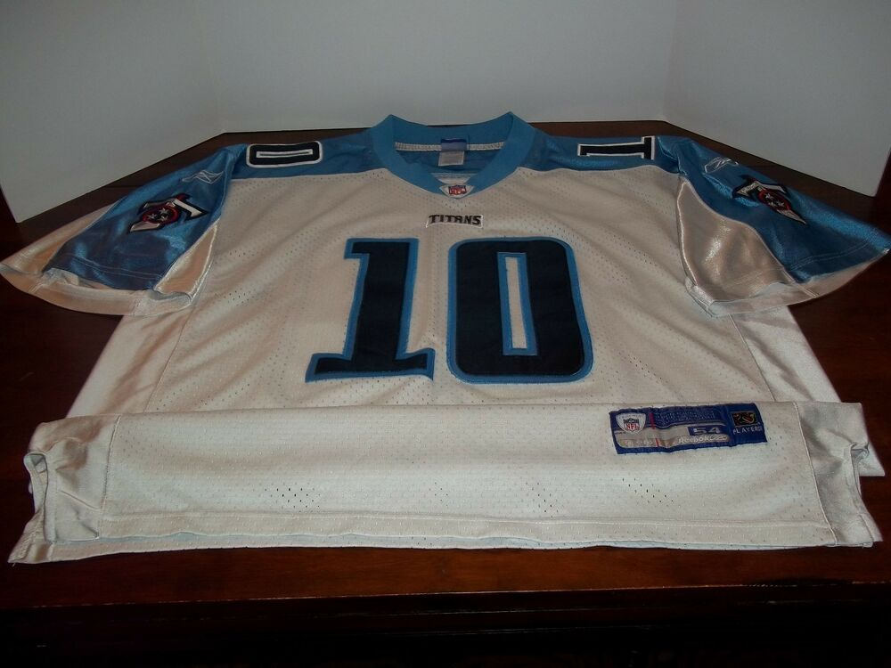 USED - NFL - TENNESSEE TITANS -  10 YOUNG - WHITE - JERSEY - REEBOK - MENS  - 54  04e416a1475b4