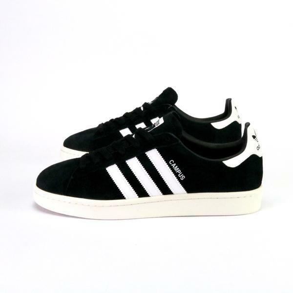 5c353929123922 Adidas Campus Black White Suede Men s Shoes New In Box